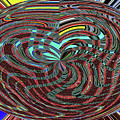 Janca Abstract Ovoid Panel 9646w9a by Tom Janca