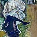 Jane Avril Dancing Circa 1892 by Henri De Toulouse Lautrec