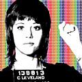 Jane Fonda Mug Shot - Rainbow by Gary Hogben