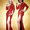 Jane Russel And Marilyn Monroe by Peter Nowell