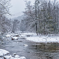 January Snow On The River by Thomas R Fletcher