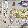 Japan: Map, 1606 by Granger