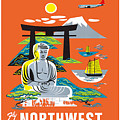 Japan Northwest Orient Airlines by Nostalgic Prints