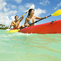 Japanese Couple Kayaking by Dana Edmunds - Printscapes