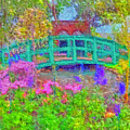 Japanese Footbridge At Phipps Conservatory by Digital Photographic Arts