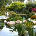 Japanese Garden Panorama 2 by Elaine Plesser