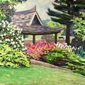Japanese Garden-spring Blossoms by Richard Nowak