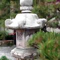 Japanese Garden Stone Lantern Statue by Elaine Plesser