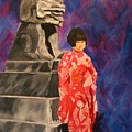 Japanese Girl With Chinese Lion by Marilyn Tower
