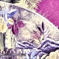 Japanese Iris - Kimono Series by Susan Maxwell Schmidt