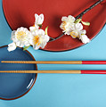 Japanese Oriental Place Setting by Milleflore Images