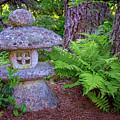 Japanese Stone Lantern In Asticou Garden by Rick Berk