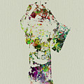 Japanese Woman In Kimono by Naxart Studio