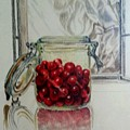 Jar Of Cherries by Karen Drake