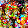 Jars Full Of Colorful Objects by Garry Gay