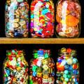 Jars On A Shelf by Garry Gay
