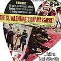 Jason Robards As Al Capone Theatrical Poster The St. Valentines Day Massacre 1967  by David Lee Guss