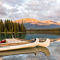 Jasper Lake Canoes by John Johnson
