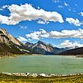 Jasper Medicine Lake Spring Panorama by Adam Jewell