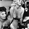 Jayne Mansfield Hollywood Actress And, Italian Actress Sophia Loren 1957 by California Views Archives Mr Pat Hathaway Archives