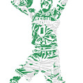Jayson Tatum Boston Celtics Pixel Art 11 by Joe Hamilton