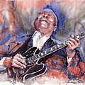 Jazz B B King 05 Red A by Yuriy  Shevchuk