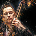 Jazz Bass Player by Arthur Babiarz