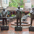 Jazz Greats Al Hirt Fats Domino Pete Fountain Stature New Orleans  by Chuck Kuhn