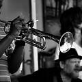Jazz Men In Black And White by Nadalyn Larsen
