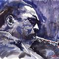 Jazz Saxophonist John Coltrane 01 by Yuriy  Shevchuk