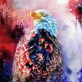 Jazzy Bald Eagle Colorful Bird Art By Jai Johnson by Jai Johnson