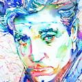 Jean Gabin - Colored Pens Portrait by Fabrizio Cassetta
