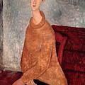 Jeanne Hebuterne In A Yellow Jumper by Amedeo Modigliani