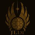 Jedi Symbol - Star Wars Art, Brown by Studio Grafiikka