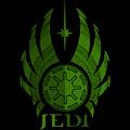 Jedi Symbol - Star Wars Art, Green by Studio Grafiikka