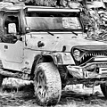 Jeep Life Black And White by JC Findley