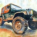 Jeep Wrangler Watercolor by Carlin Blahnik CarlinArtWatercolor