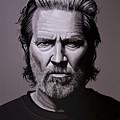 Jeff Bridges Painting by Paul Meijering