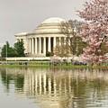 Jefferson Memorial Reflection I by Karen Jorstad