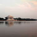 Jefferson Monument At Sunset by Douglas Barnett