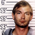 Jeffrey Dahmer Mug Shot 1991 Square  by Tony Rubino