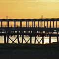 Jekyll Island Pier At Sunset by Bruce Gourley