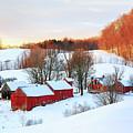 Jenne Farm Winter Sunrise by John Vose