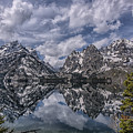 Jenny Lake And The Cathedral by Howard  Hackney
