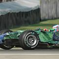 Jenson Button, Honda Ra107  by James Hervat