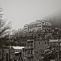 Jerome In Fog by Ron Chilston