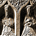 Jerpoint Abbey Irish Tomb Weepers Saints County Kilkenny Ireland Sepia by Shawn O'Brien