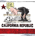 Jerry Brown - California Drought And High Speed Rail by Daryl Cagle