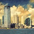 Jersey City Skyline by Zapista Zapista