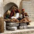 Jerusalem - Bread Seller by Munir Alawi